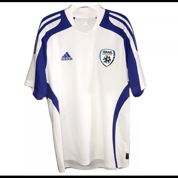 adidas Shirts | Adidas Israel Soccer Jersey Climacool Mens Medium ...